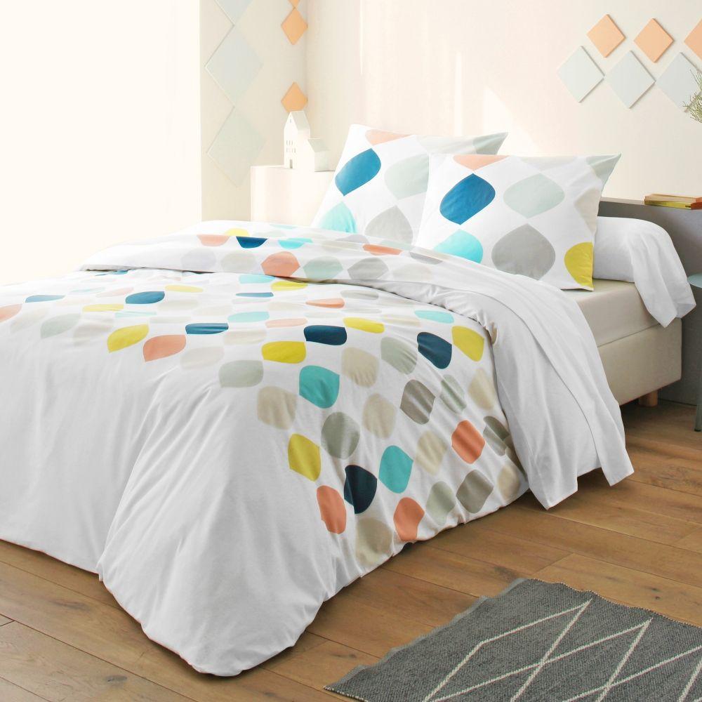 Linge de lit blancheporte au design délicatement acidulé inspiration design scandinave