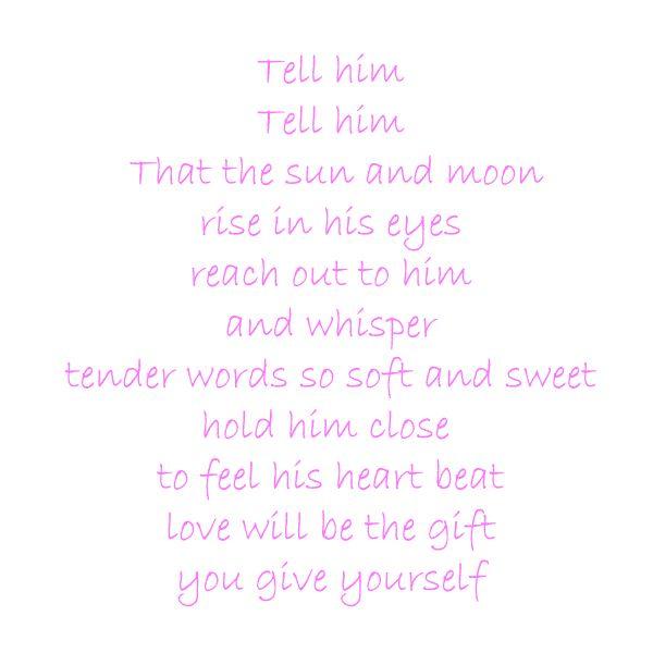 tell him song lyrics