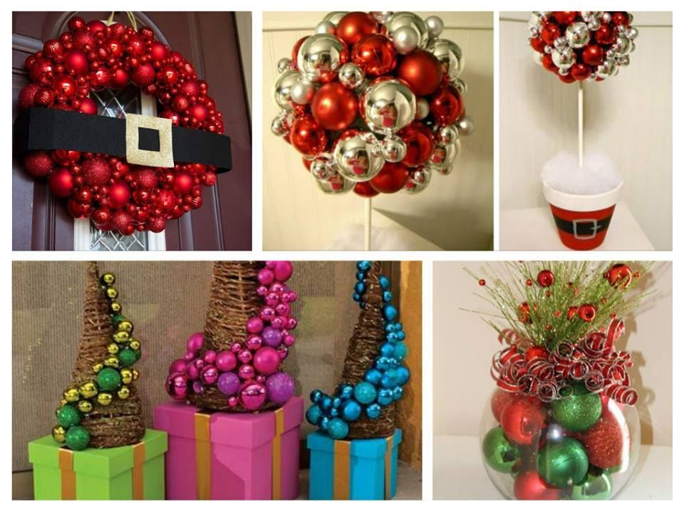 Ideas de decoraci n con esfereas navide as diy by - Decoracion navidad manualidades ...