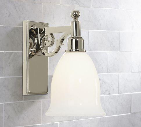 Florence Single Sconce Pottery Barn Bath Sconce Light Fixtures Pinterest Grey Wall Tiles
