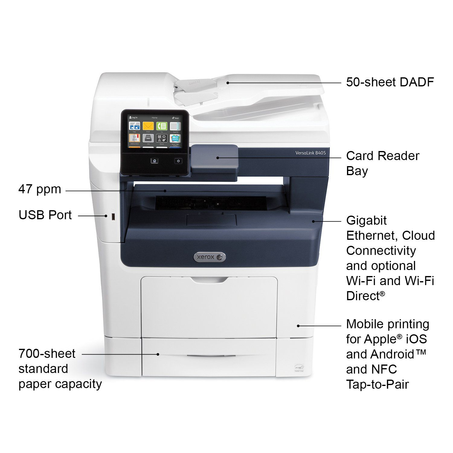 Xerox B405 Dn Black And White Multifunction Laser Printer