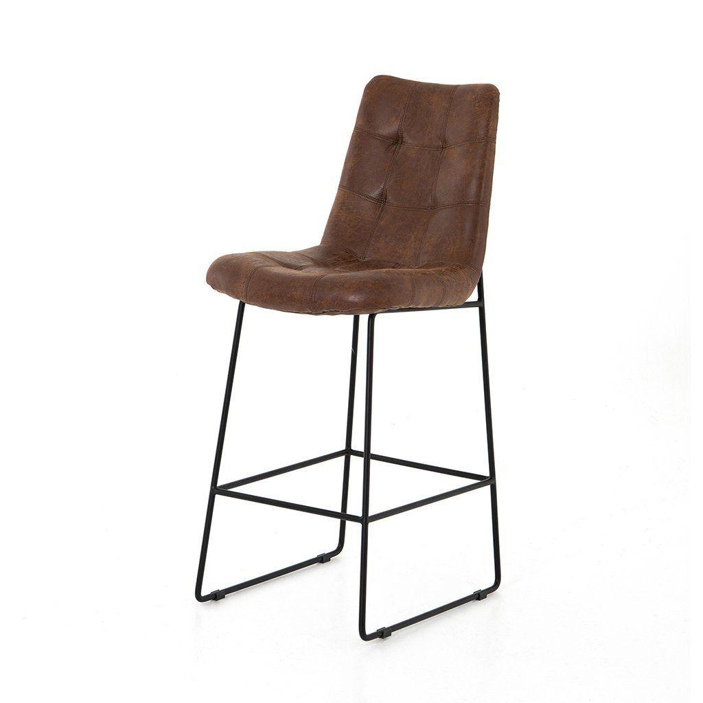 Fantastic Camile Bar Counter Stool Vintage Tobacco Seats For Short Links Chair Design For Home Short Linksinfo