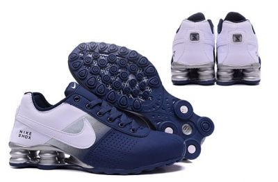304e8b409c8b Nike Shox Deliver Men Shoes Fade Dark Blue silver Casual Trainers Sneakers  317547