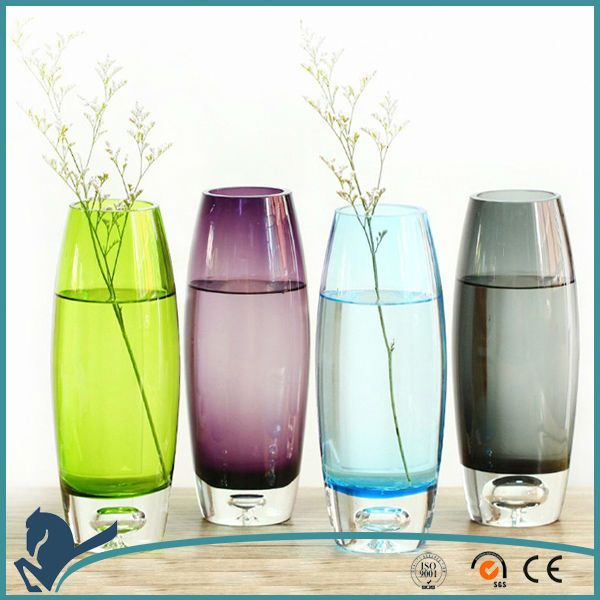 Cheap Western Style Oem Colorful Clear Glass Vase From Alibaba
