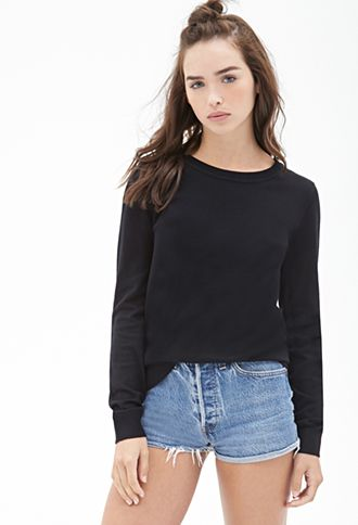 bbe69715c Classic Crew Neck Sweater   FOREVER21 - 2000101158   Clothing   Crew ...