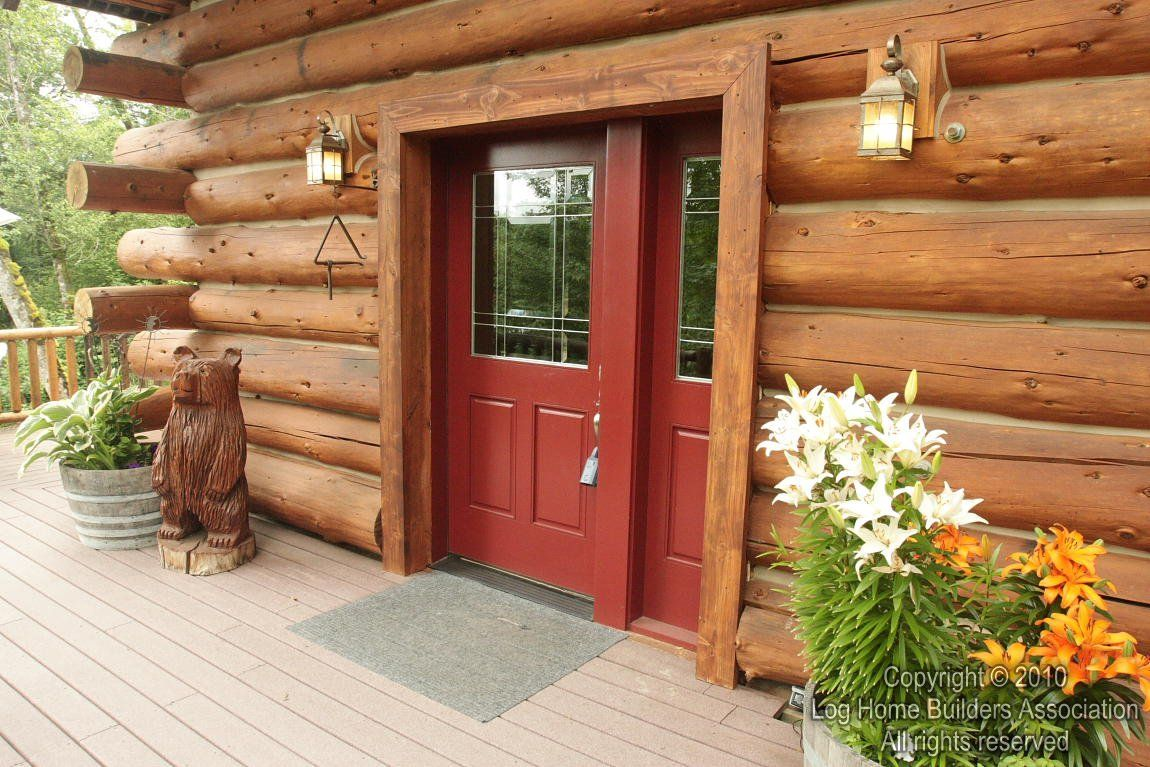Log Cabin Front Door Colors | log cabin interiors and exteriors ...