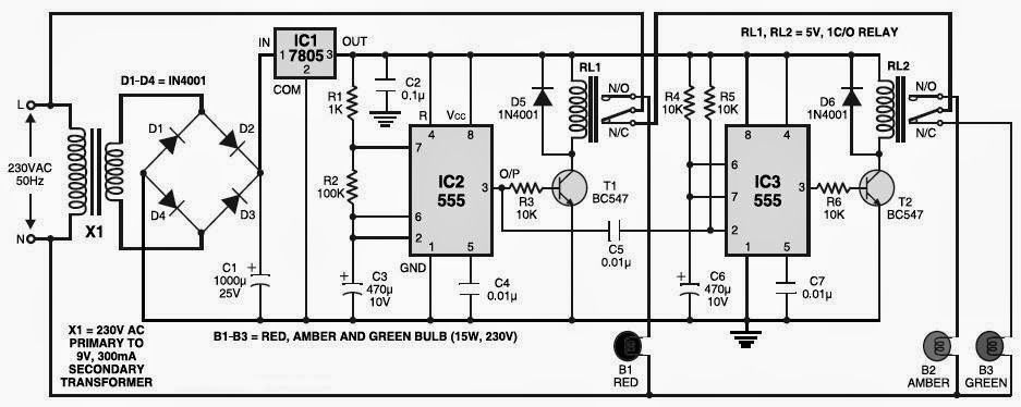 simple touch activated light circuit diagram