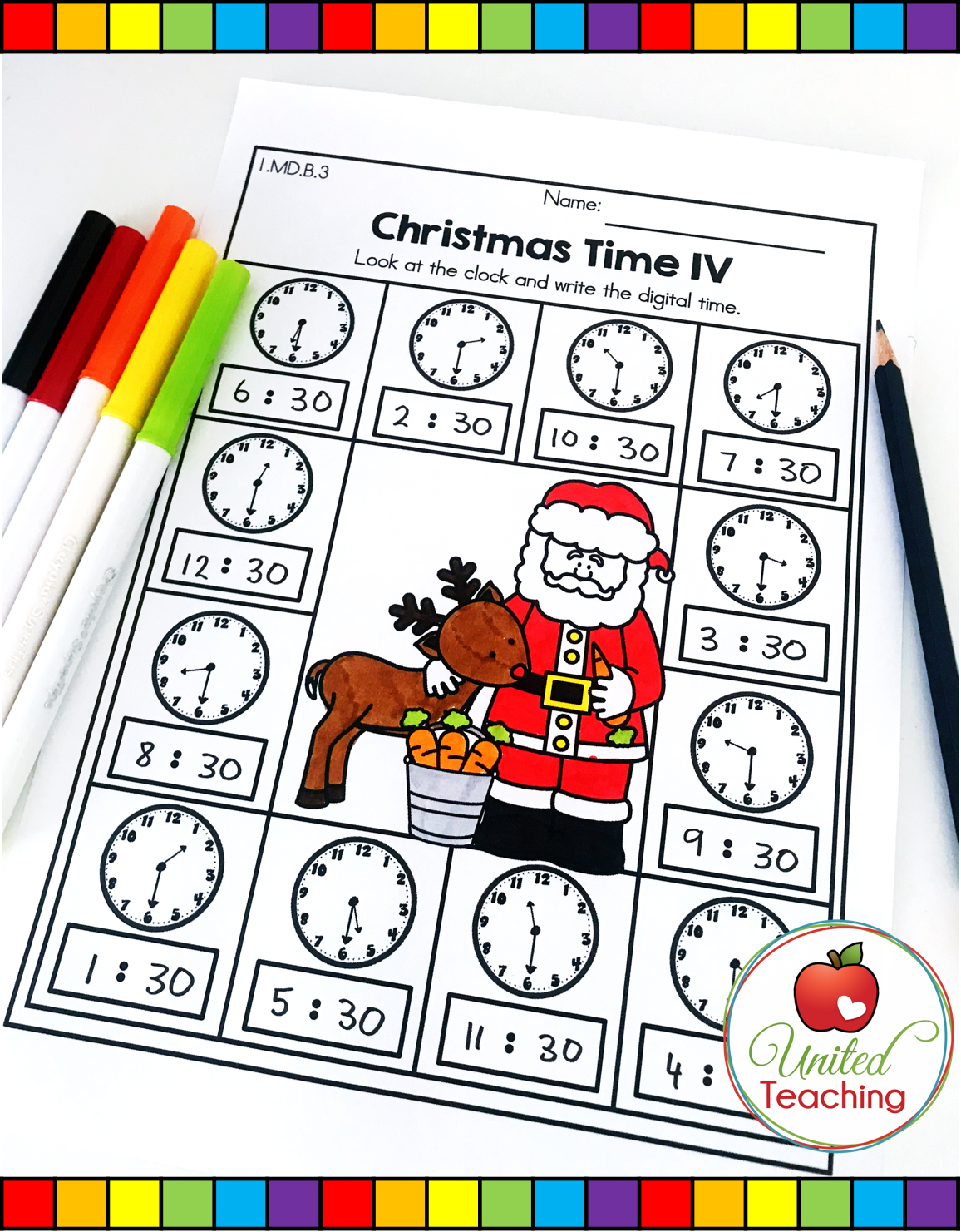 Christmas Math And Literacy 1st Grade No Prep Activities