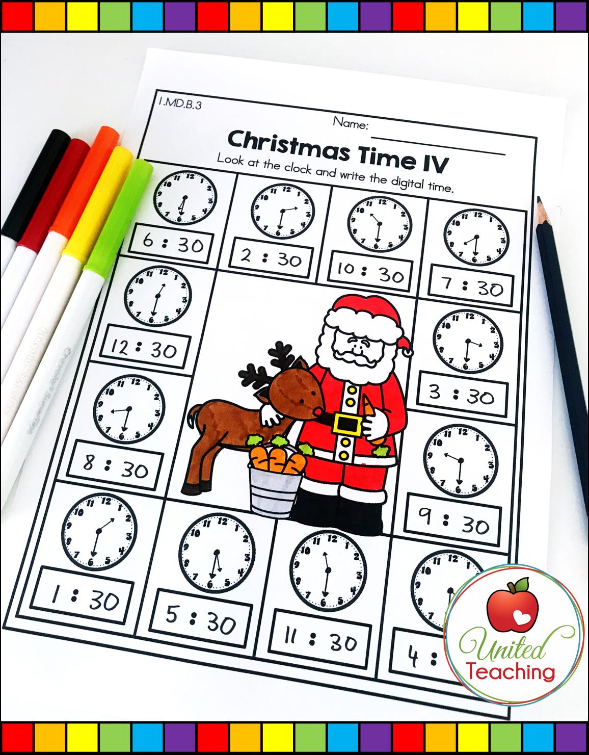 Christmas Math And Literacy 1st Grade No Prep Activities