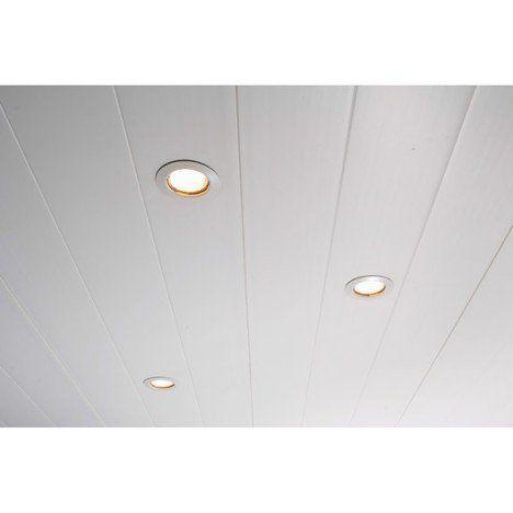 Lambris PVC blanc Lambri e Boiserie Pinterest - plafond pvc pour salle de bain