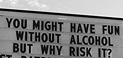 I don't like to take risks.