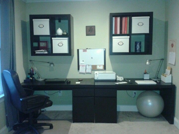 Ikea Office Malm Desks Expedit Shelves Husband Likes It