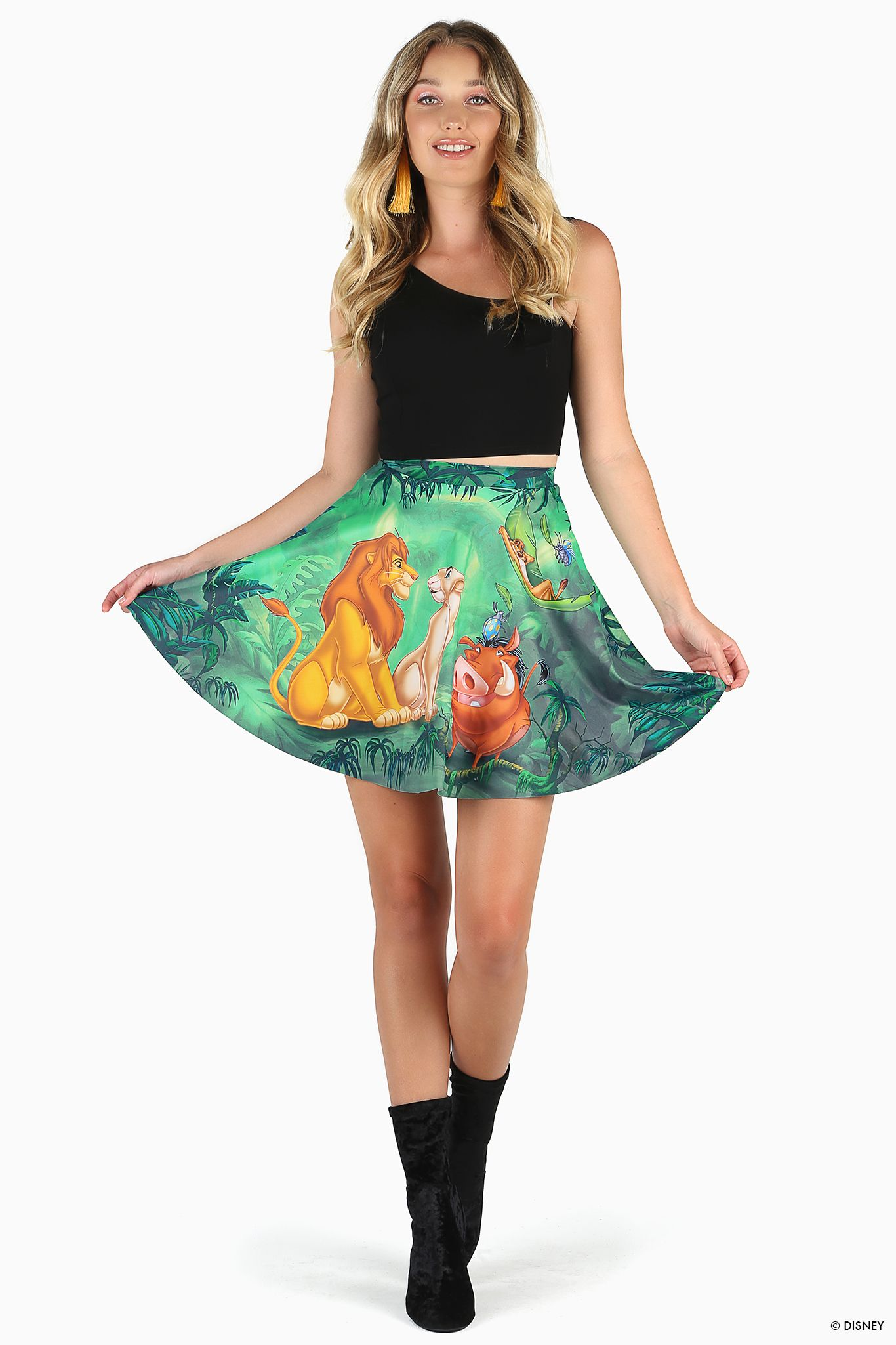 028ada3eb Lion King Pocket Skater Skirt – 7 DAY UNLIMITED ($85AUD) by BlackMilk  Clothing