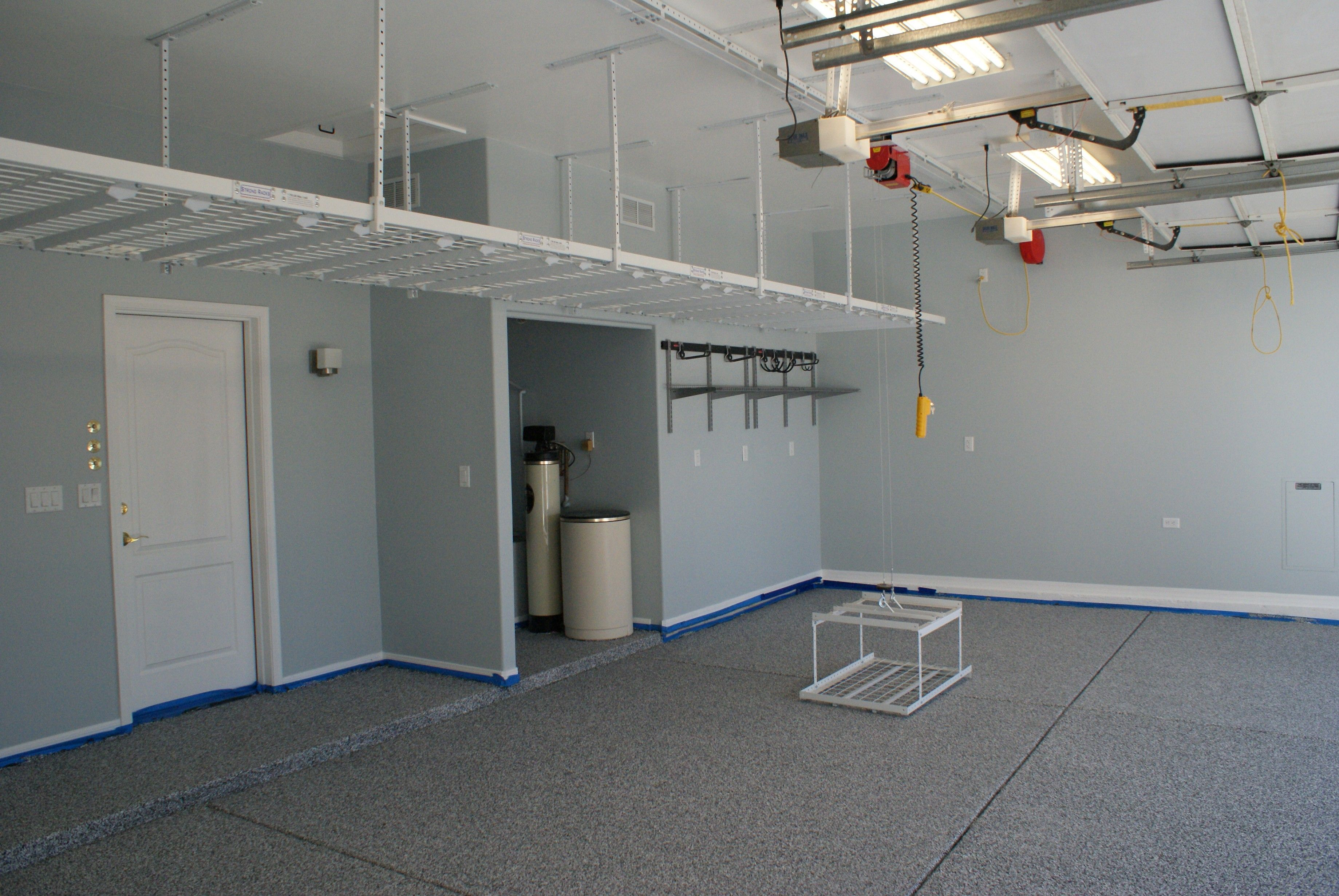 racks with better installing overhead the inside ceilings ceiling storage garage fan advantages garages best
