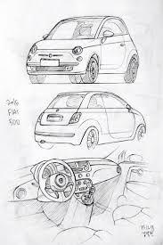 Resultado De Imagem Para Fiat 500 Drawing Desenhos De Carros