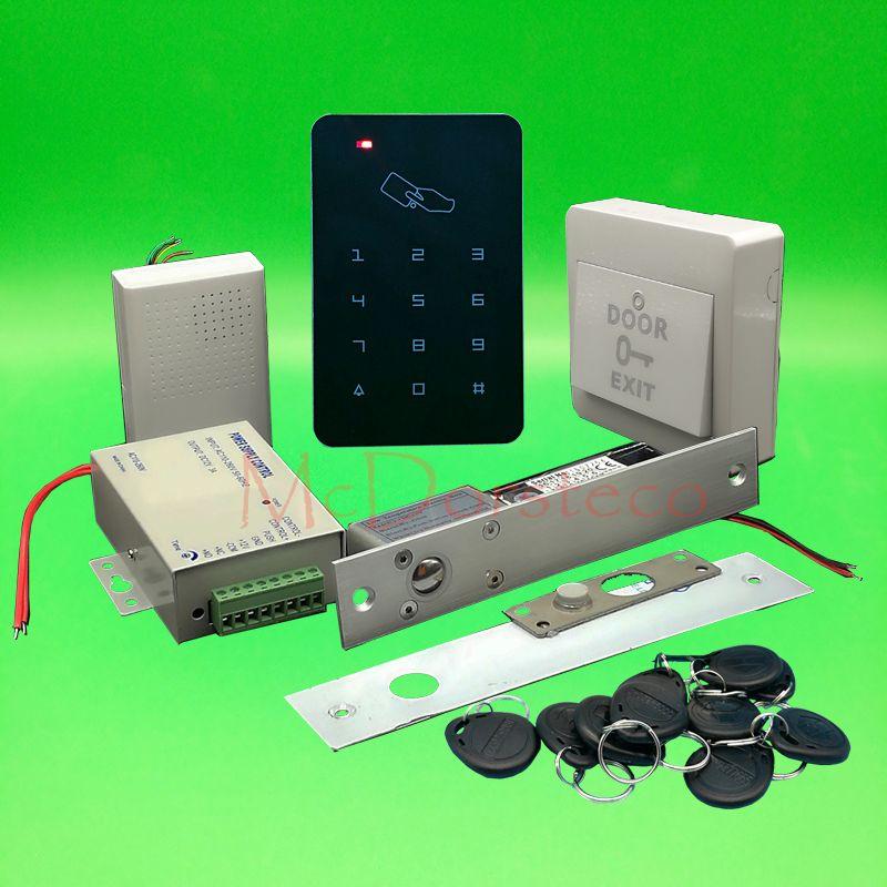 Brand New Diy Rfid Door Access Control Kit Set With Electric Bolt Lock Card Full Wood Door Acce Access Control Access Control System Door Lock System
