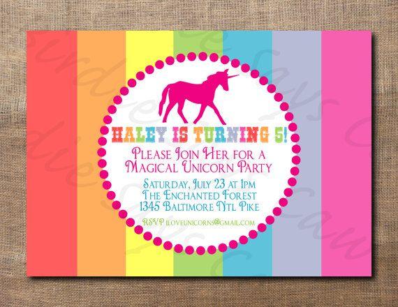 Unicorn Birthday Party Custom Printable By BirdieSaysCawCaw 1200
