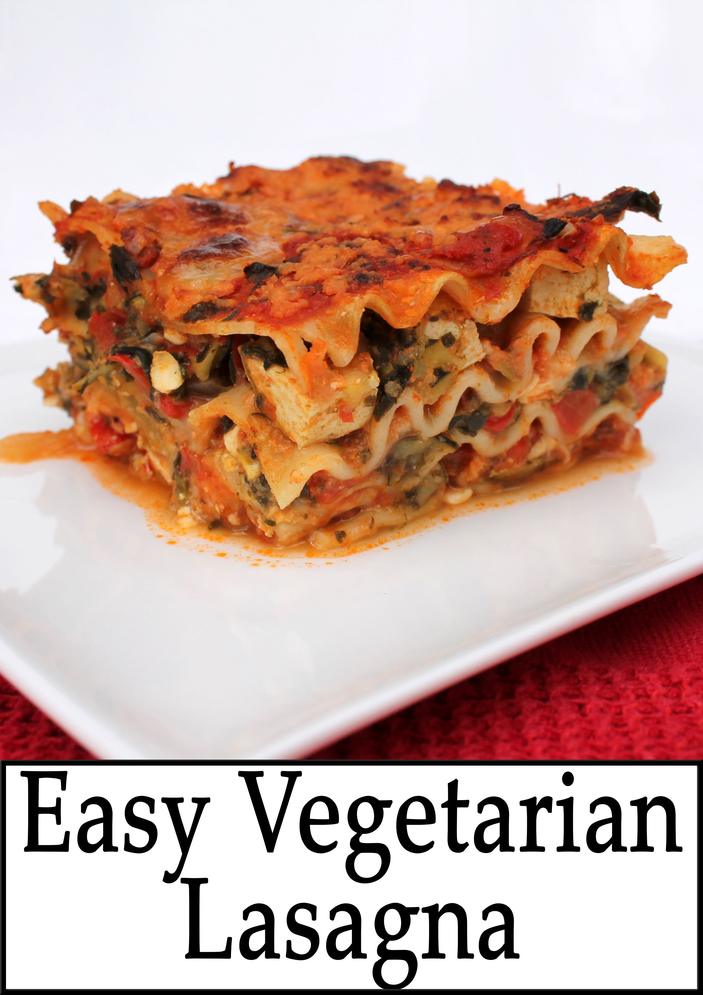 Pleasing Easy Vegetarian Lasagna Vegetarian And Vegan Dishes Interior Design Ideas Pimpapslepicentreinfo