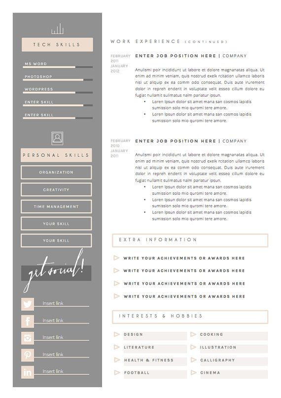 Resume References Template | Resume Template And Cover Letter References Template For Word