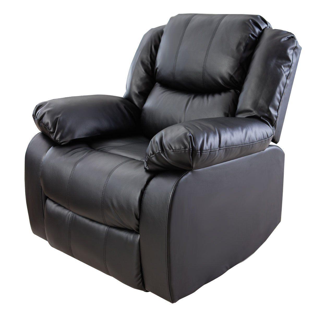 giantex 3pc black motion sofa loveseat recliner set living room