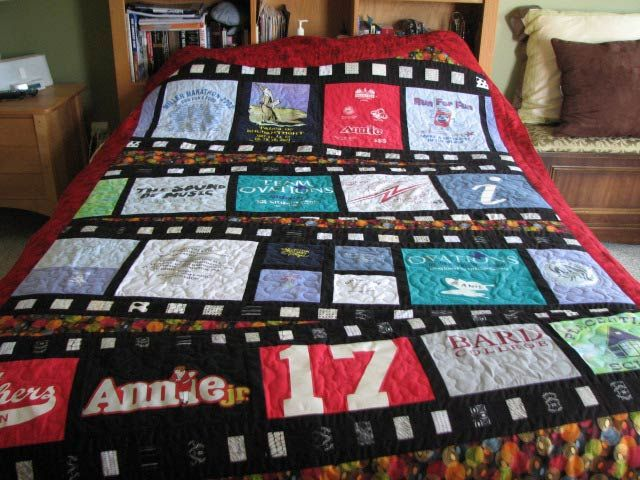 T Shirt Memory Quilt By Four Corners Designs Pieced Patterns