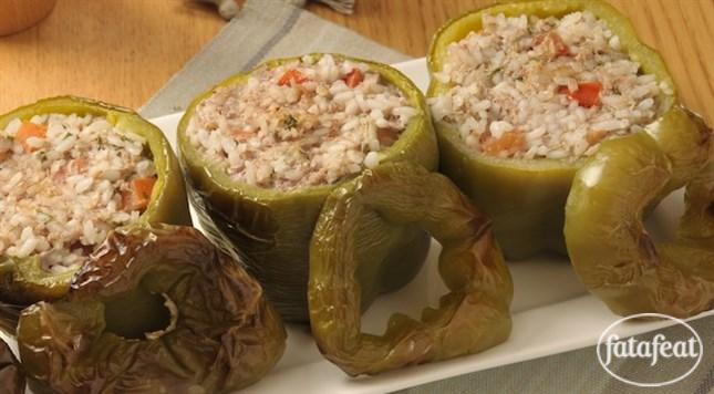 فتافيت فلفل رومي أخضر محشي Food Yummy Food Tasty
