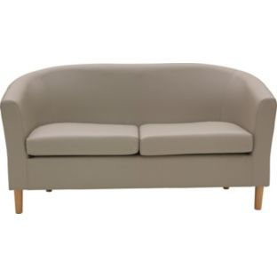 Buy Argos Home 2 Seater Faux Leather Tub Sofa Mocha Sofas Sofa Comfortable Sofa Sofa Seats