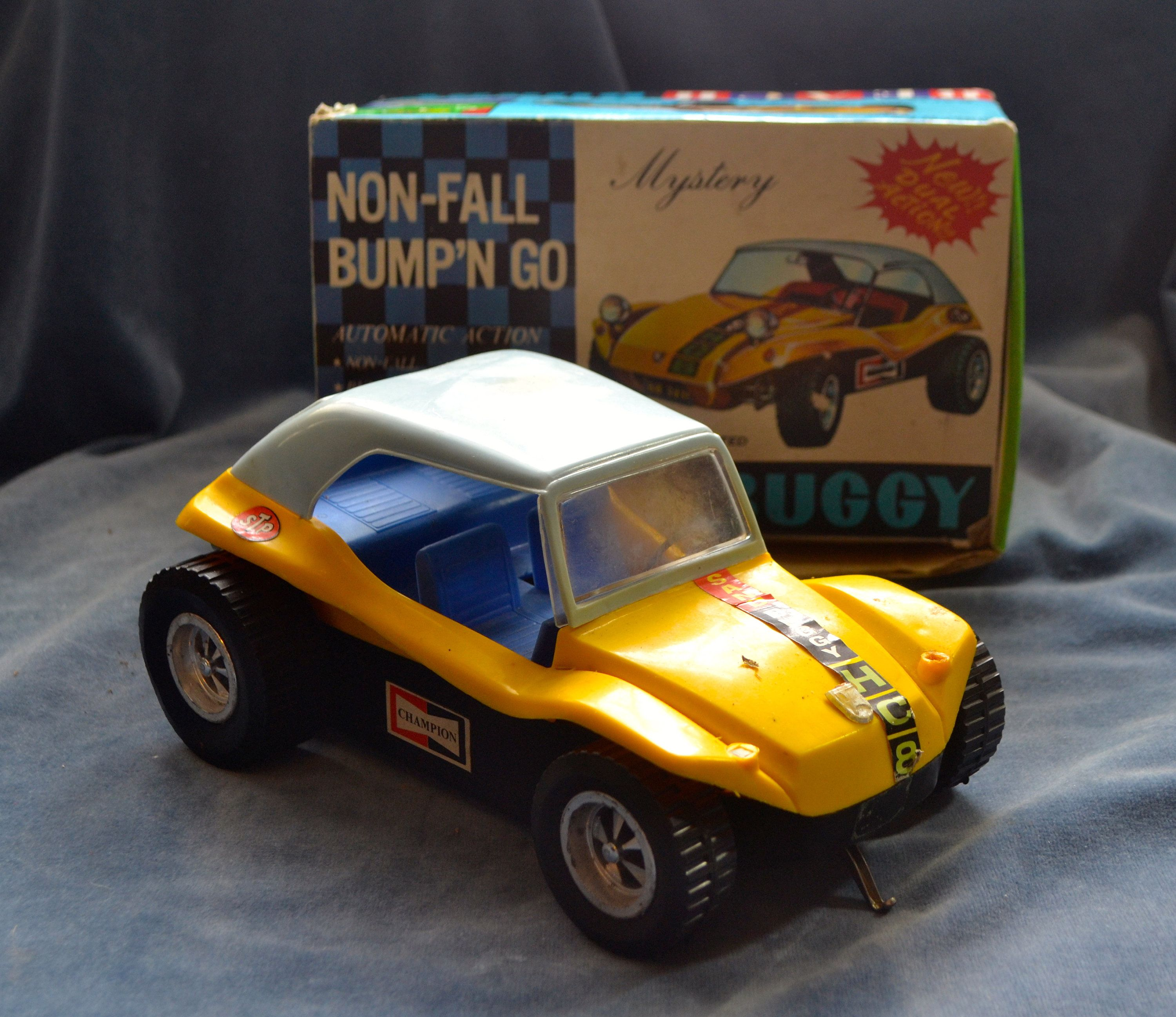 1960 S Taiyo Battery Operated Bump N Go Mystery Beach Buggy Toy Car Boxed By Triggerstreasure On Etsy Toy Car Beach Buggy Box Car