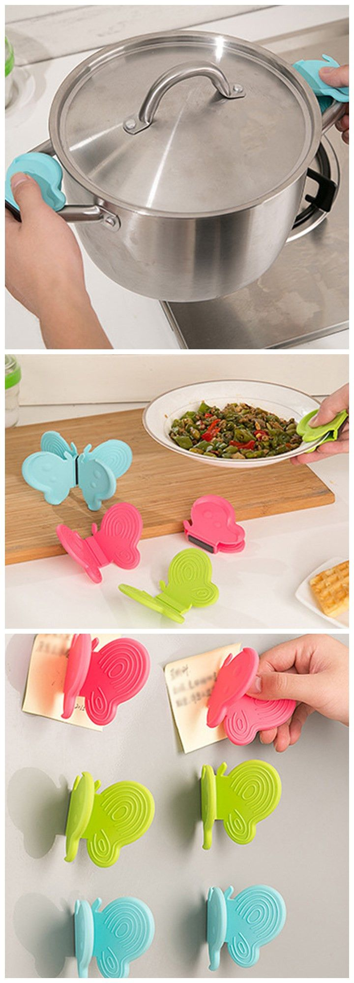 Butterfly Shaped Silicone Kitchen Heat Insulation