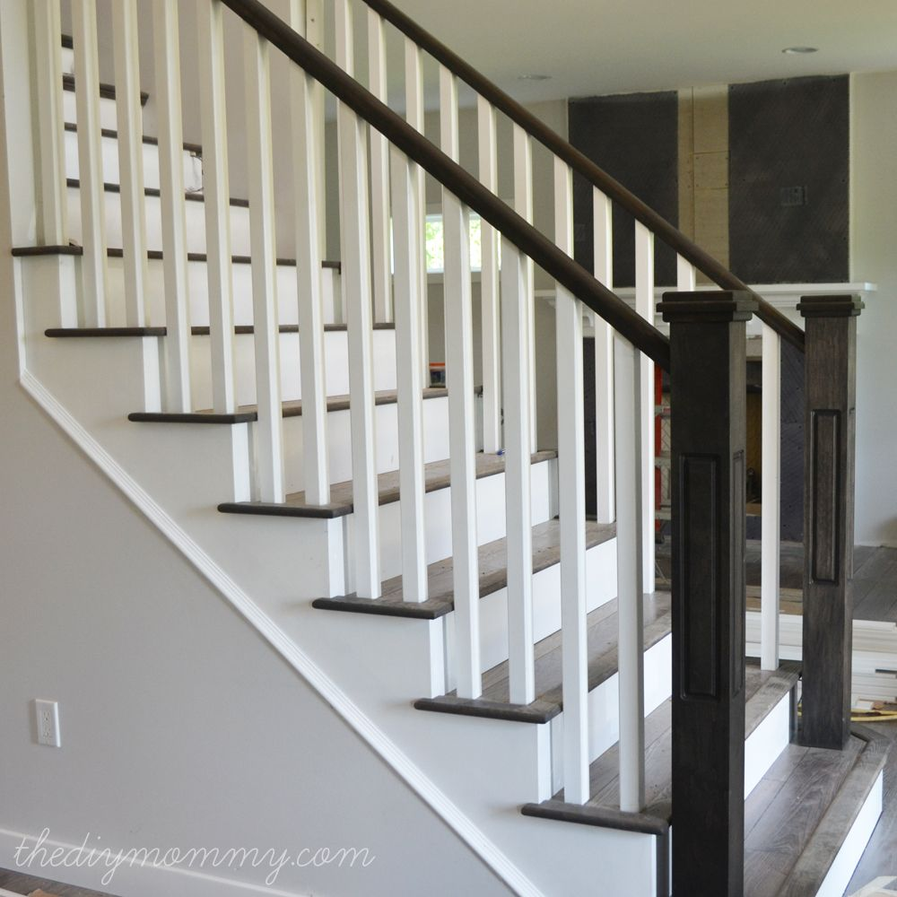Finishing Our Stair Railings More Ks At Almost Finished Home Diy House