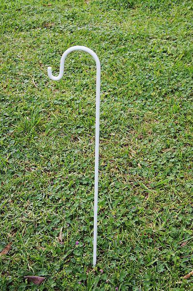 10 X White Wedding Party Garden Shepherd Hook Crook Lantern Flower Holder  ... With