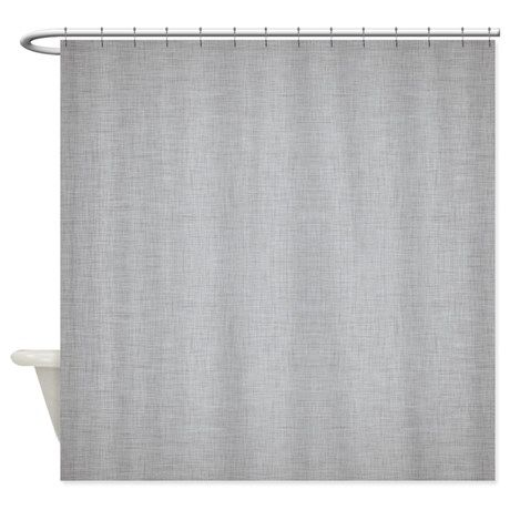 Grey Linen Shower Curtain By Kwgdesigns Curtains Shower Bath Remodel