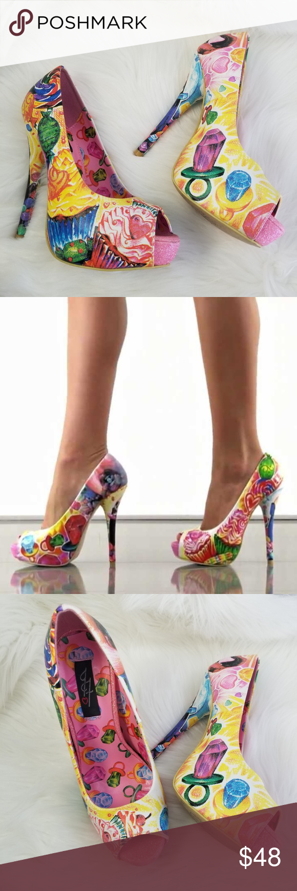 eae61a198e33b5 IRON FIST Sweets For My Sweet Candy Platform Heels IRON FIST.  99 Retail.