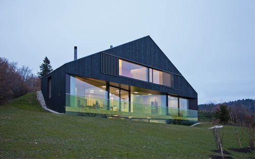 Black Timber Clad House Bonnard Woeffray Mmw House