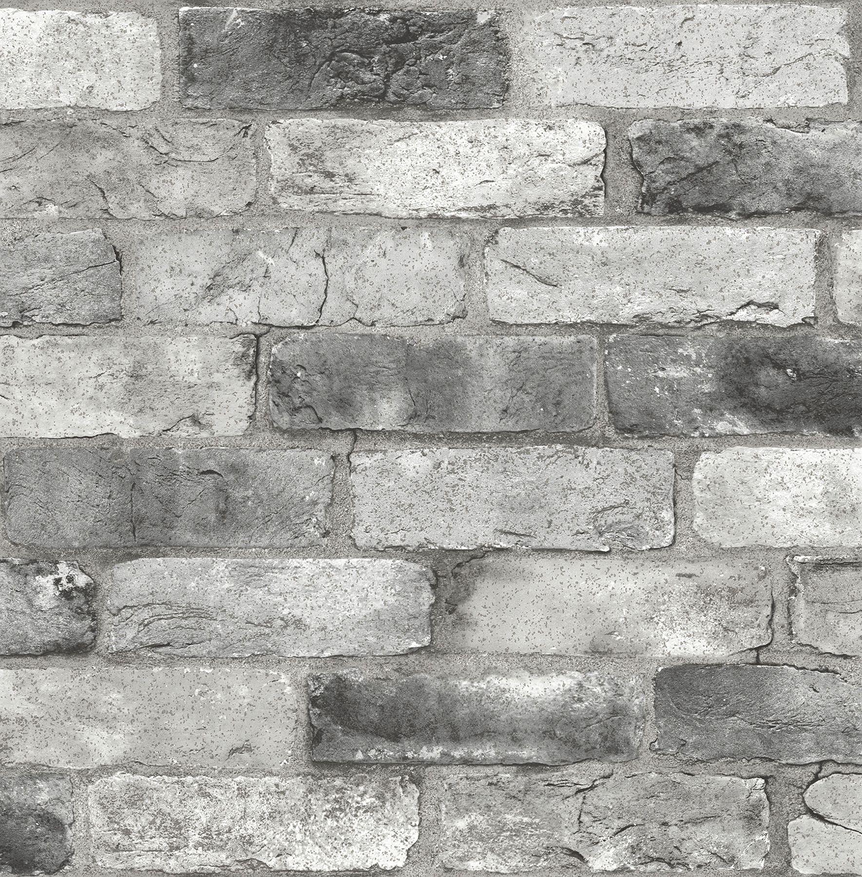 Nuwallpaper Grey London Brick Peel Stick Wallpaper Walmart Com Peel And Stick Wallpaper London Brick Brick Wallpaper