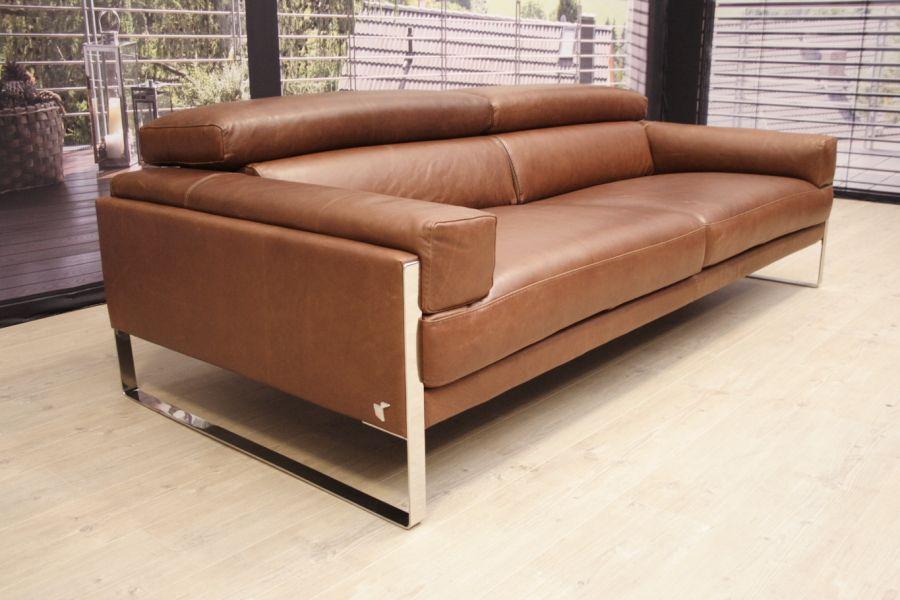 calia italia calia italia romeo sofa in leder karma 601 chocolate