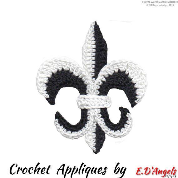 Crochet Pattern Crochet FLEUR de LIS Applique Applique | crochet ...