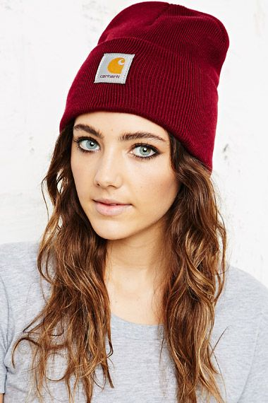 Carhartt Watch Beanie Hat in Red at Urban Outfitters  da664c37a5f