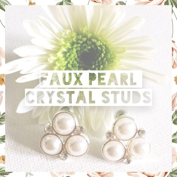 Charter Club Silver-Tone Faux Pearl+Crystal Studs Subtle sophistication. These stud earrings stun with faux pearls and glass crystals. Crafted in silver-tone mixed metal. Approximate diameter 1/2 inch. Charter Club Jewelry