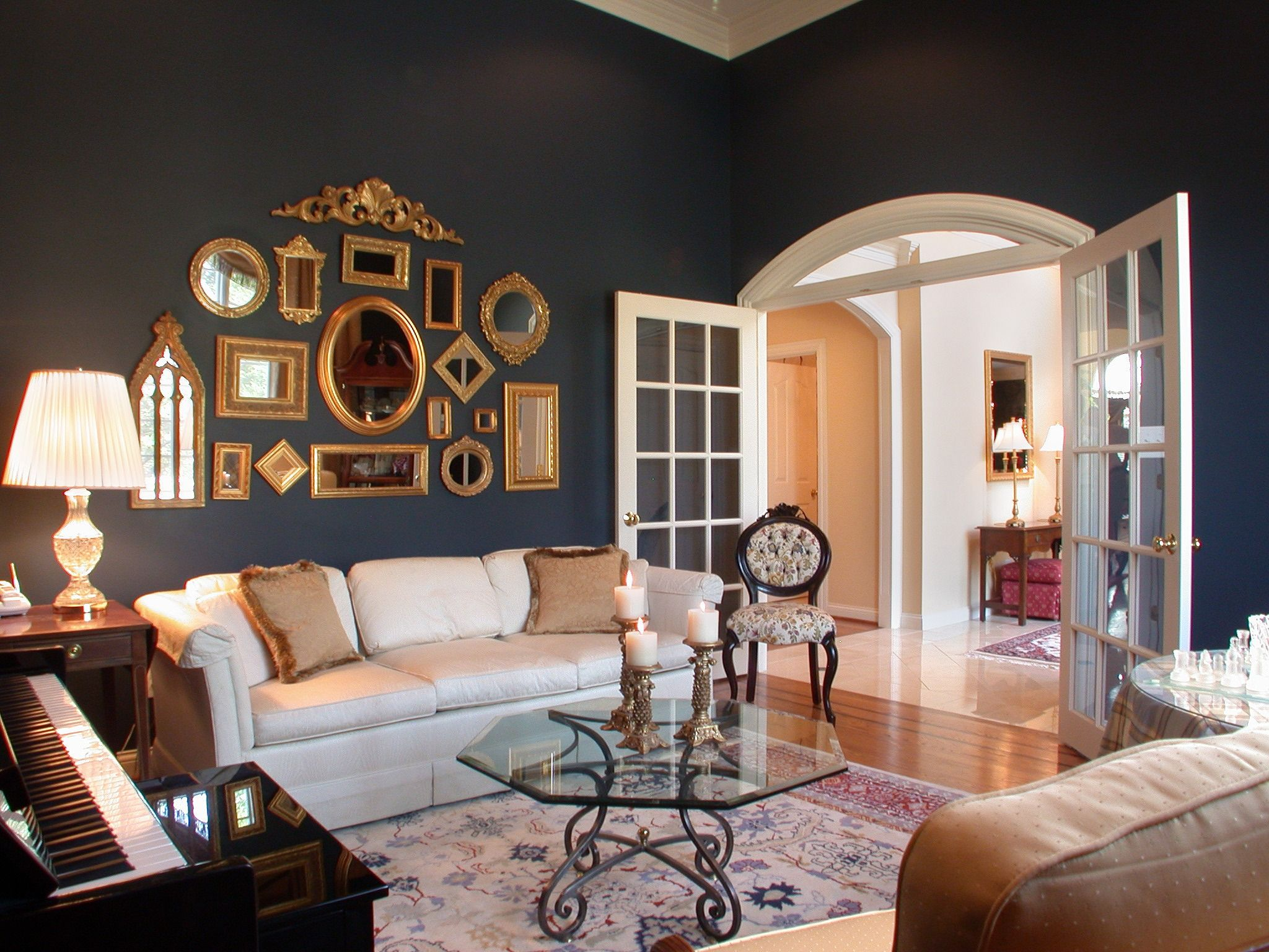 15 Best Collection of Large White Framed Wall Mirrors