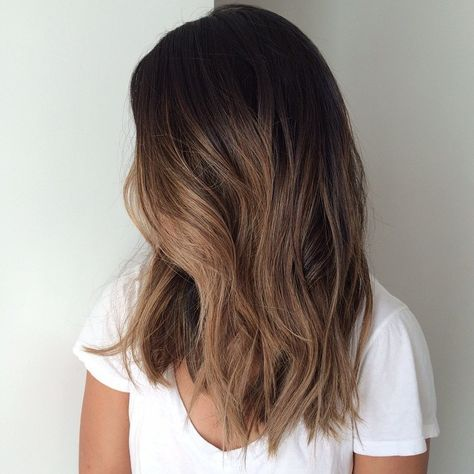 Carmel Highlights On Lower Half Light Brown Balayage Hair Styles Balayage Hair