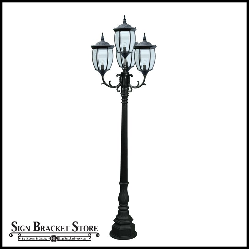 120v powder coated cast aluminum 4 lamp victorian outdoor lamp post create charming residential and commercial landscapes with this timeless victorian lighting design the victorian outdoor lamp post made from cast aluminum aloadofball Choice Image