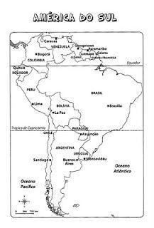 Atividades Escolares Online Atividades De Geografia Mapa