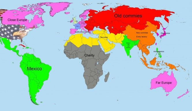 American Map Of The World Revised Funny Odd Weird Amazing Pinterest F