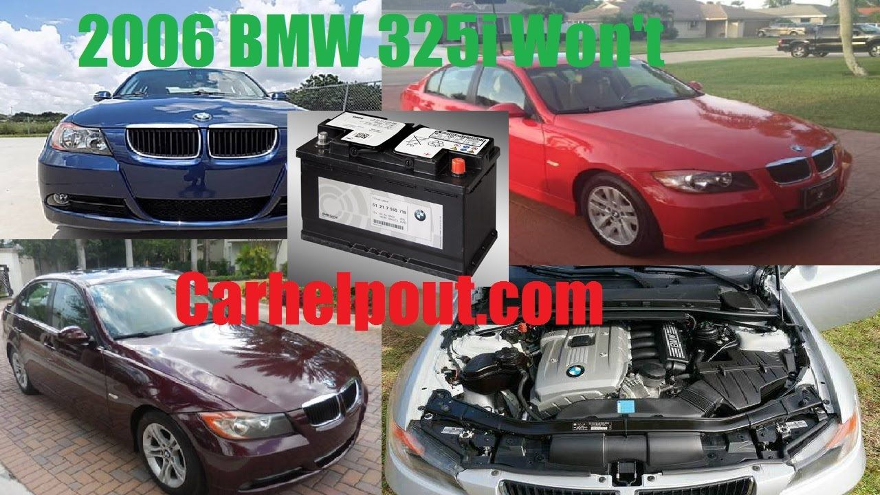 2006 BMW 325I battery failure problem Issues maybe on