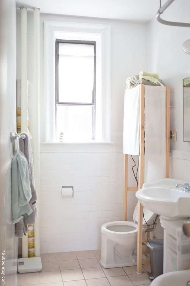 Inventive Ways To Use Ikea S Ivar All Over The House Bathroom Space Saver Over Toilet Small Bathroom Storage