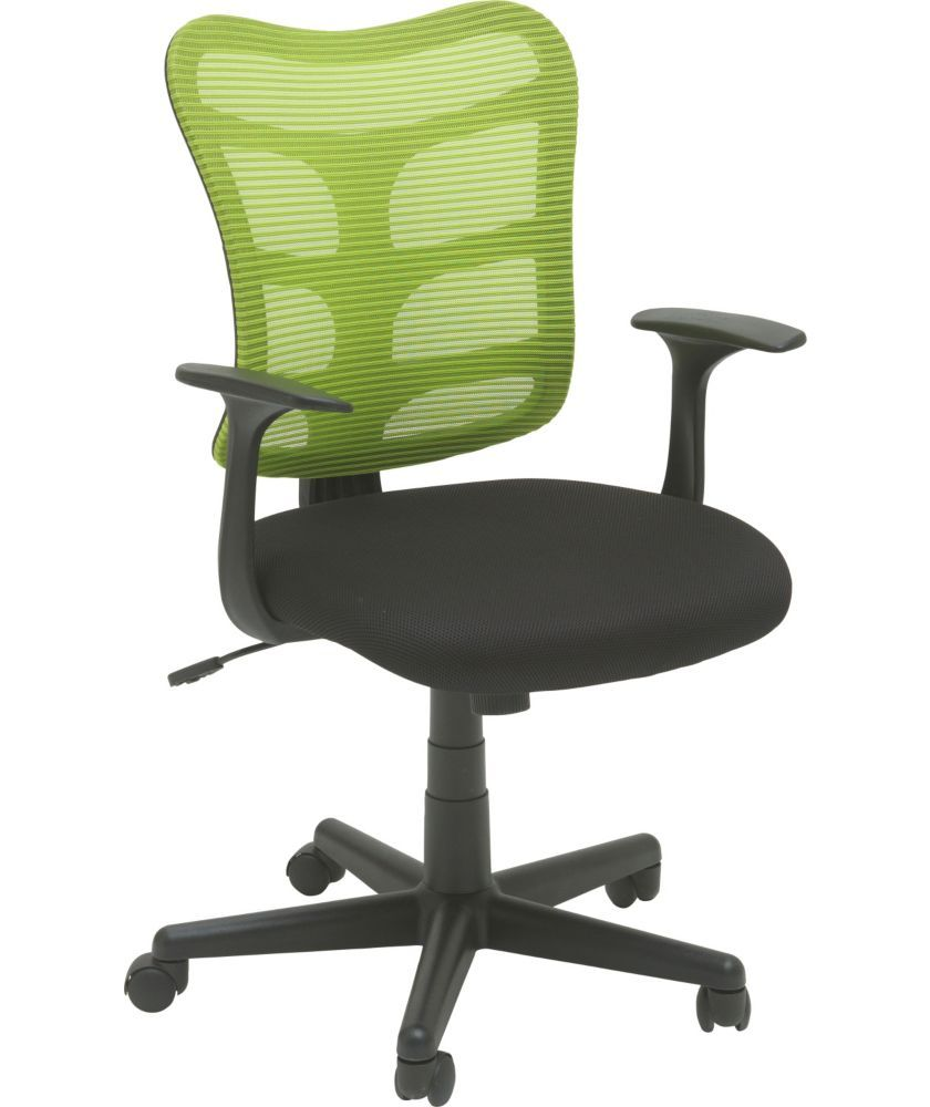 buy gas lift mesh office chair green at argos co uk your online