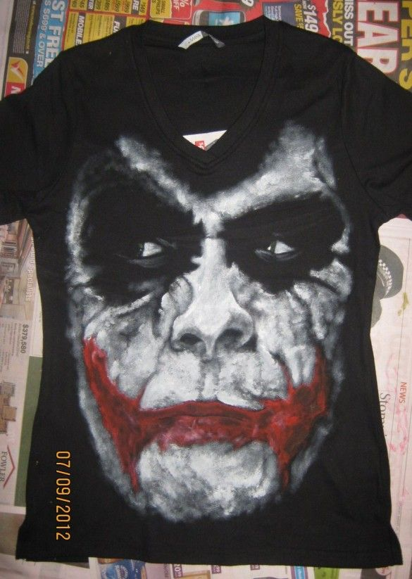 MUSH T-Shirt Dark Knight Batman Joker Why SO Serious-Film by Dress Your Style