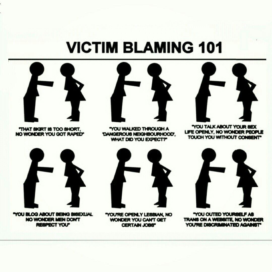 Blame the rapist, not the victim