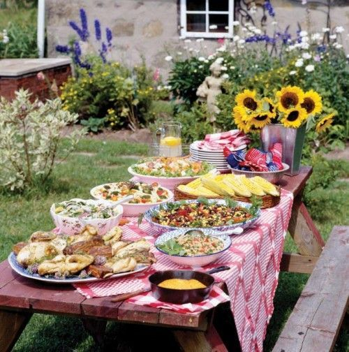 Barbecue party decorations ideas backyard bbq outdoor for Decorating ideas for outdoor engagement party